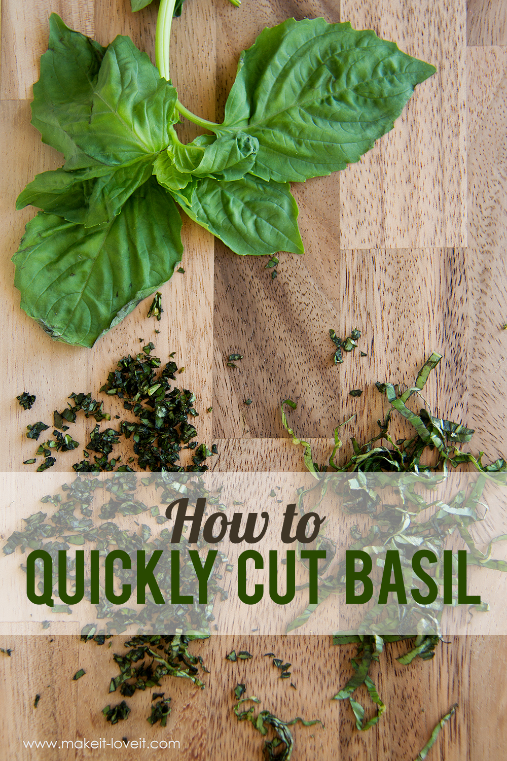 A simple kitchen tip: How to Quickly Cut Basil