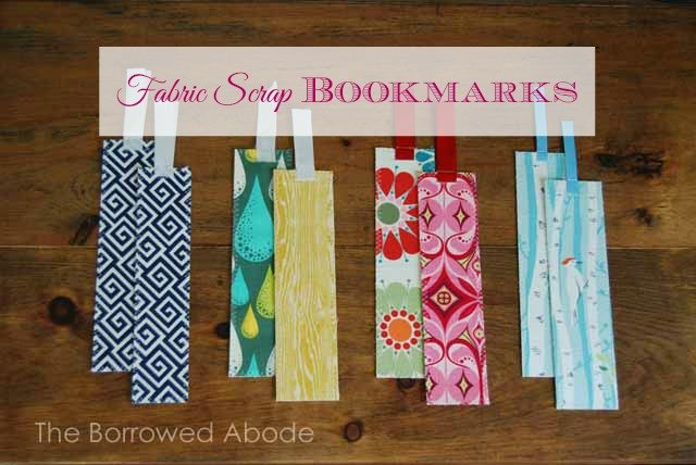 15 DIY EASY and SUPER CUTE Fabric Bookmarks | Make It and Love It
