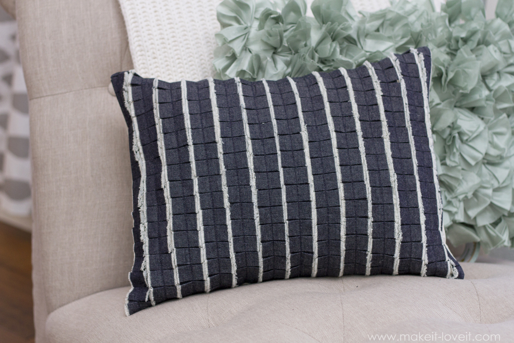 old denim pleated-ruffle-pillow-with-denim-2
