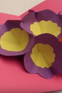 Make A 3D Flower Pop Up Card