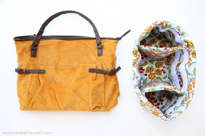 purse into padded camera bag