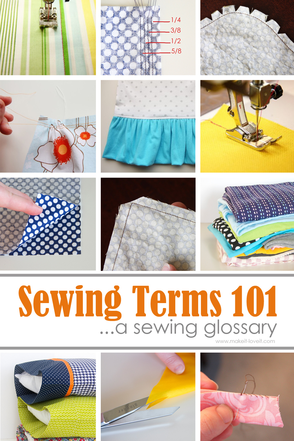 Sewing Terms 101 (…a beginner's sewing glossary)