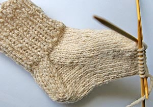 Basic Step by Step Sock Knitting via Knitter's Review