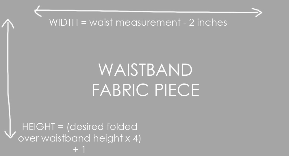 waistband fabric piece