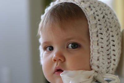 Free Crochet Pattern Baby Bonnet : 27 BEGINNER Knitting and Crochet Tutorials