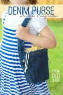 Denim Purse with Draw String Closure (from OLD JEANS) | via Make It and Love It