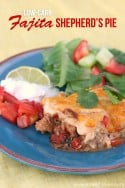 Low-Carb Fajita Shepherd's Pie | via Make It and Love It...in the KITCHEN