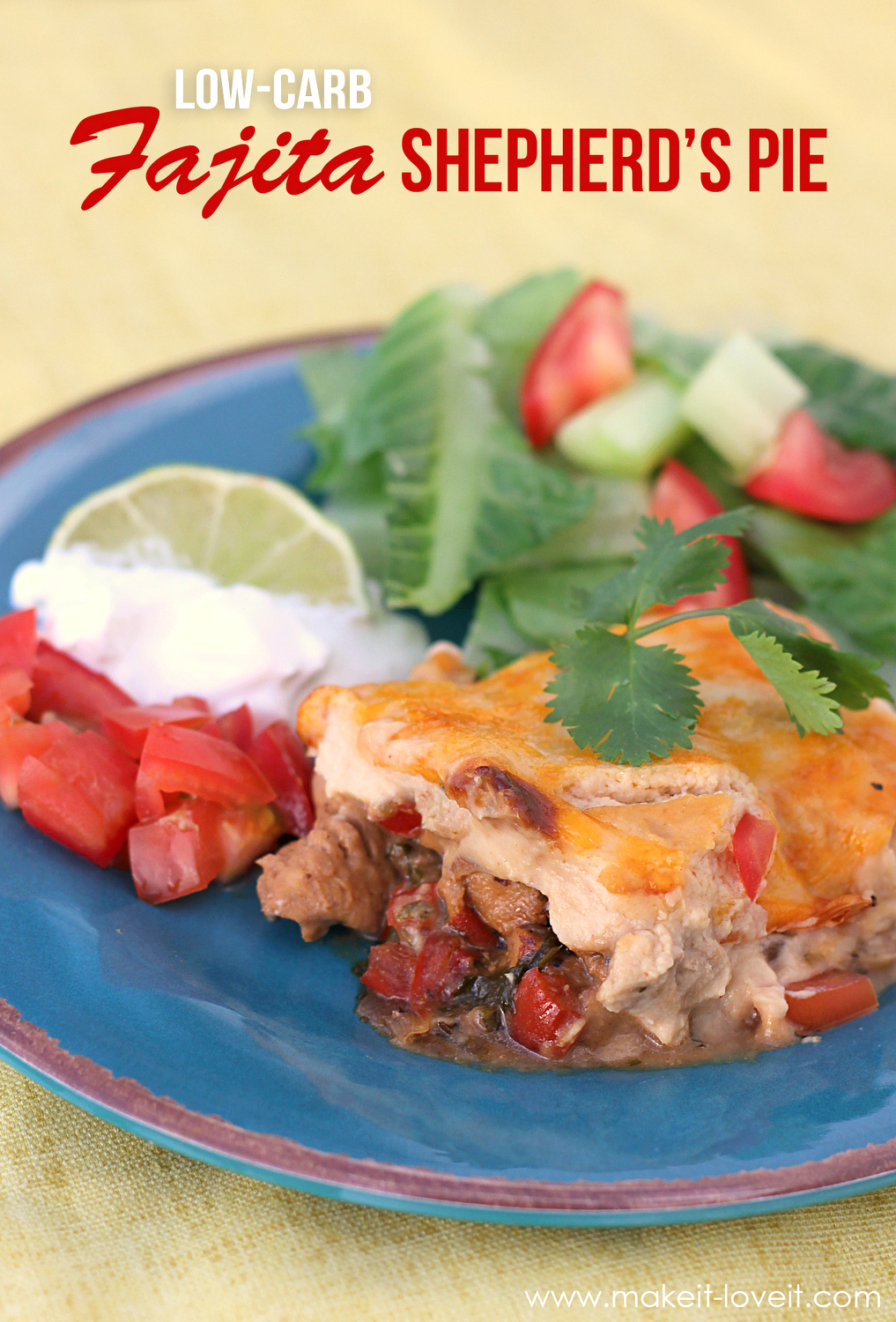 Low-Carb Fajita Shepherd's Pie