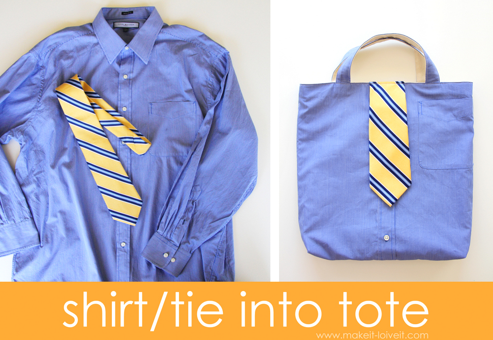 Shirt & Tie Tote Bag...for BOYS!! |via Make It and Love It