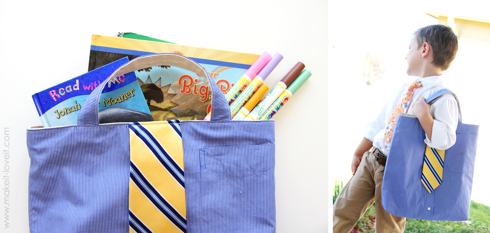 Shirt & Tie Tote Bag for BOYS 7