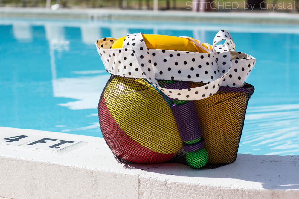 DIY Mesh Bag for Pool and Beach Toys   via Make It and Love It