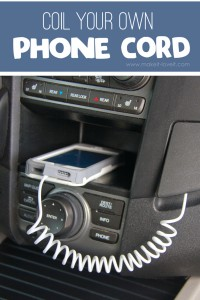 How To Coil Your Own Phone Cord (video included) | via Make It and Love It