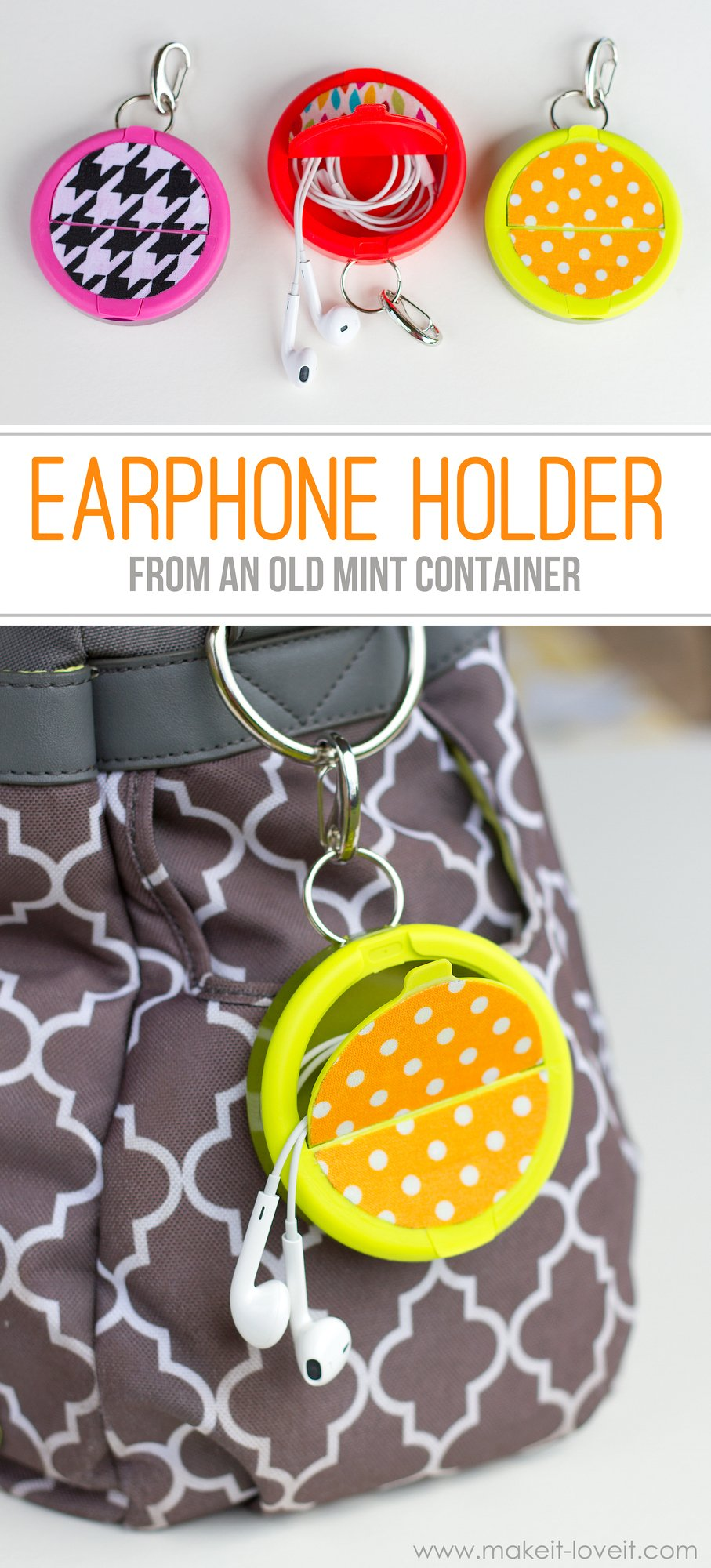 Make an earphone holder from a mint container - How do i keep my container home cool ...
