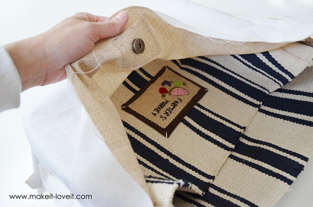 farmers market bag from an ikea rug (17)