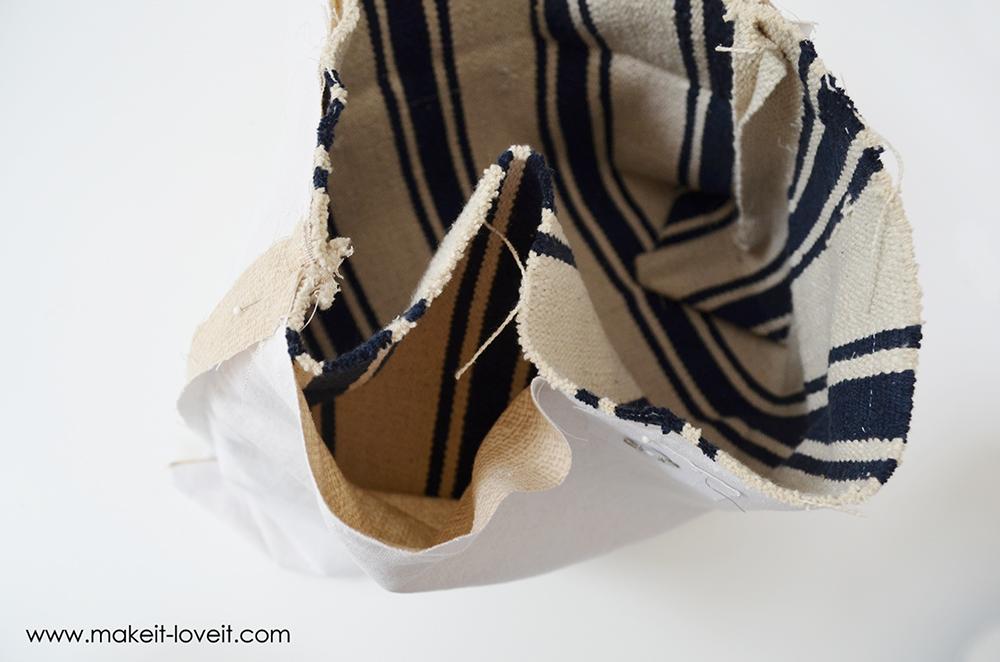 farmers market bag from an ikea rug (19)