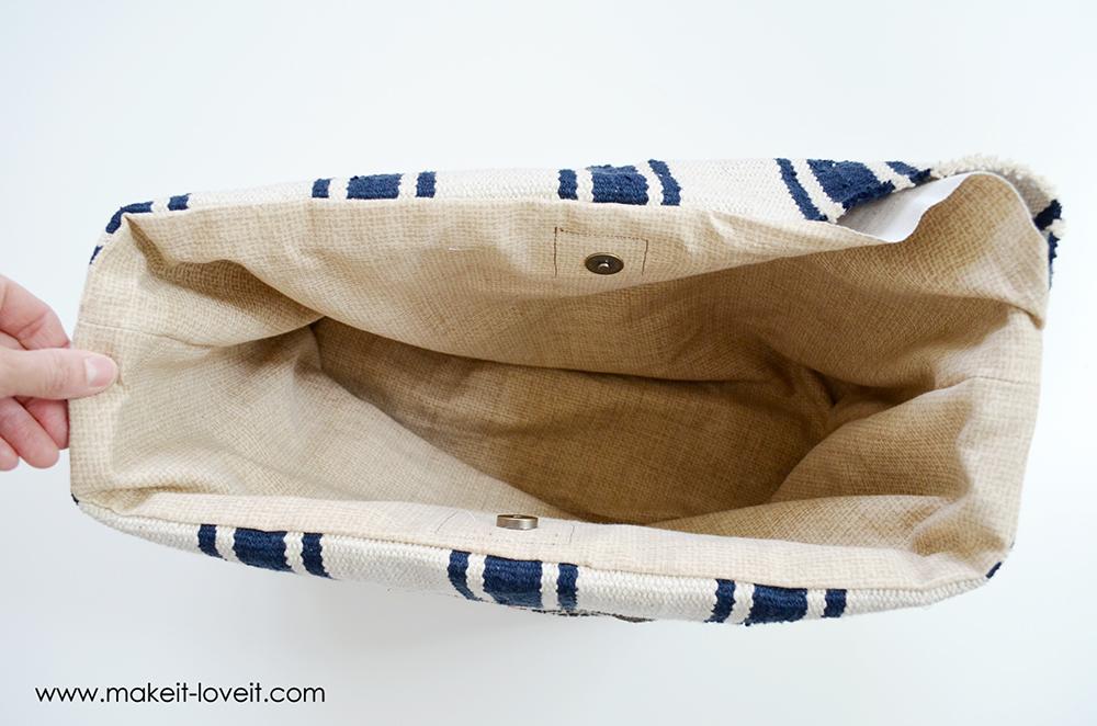 farmers market bag from an ikea rug (21)