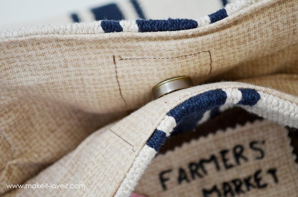 Make a Farmer's Market Bag...from an Ikea Rug | via Make It and Love It
