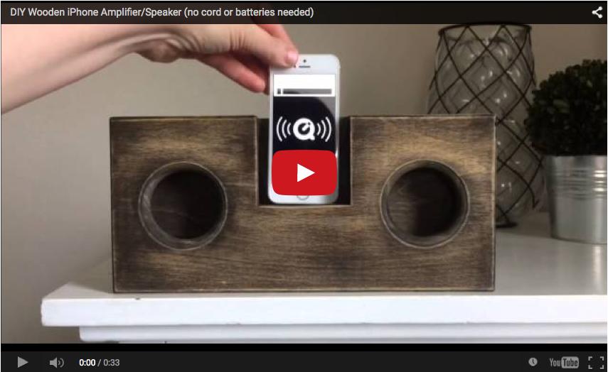 wooden iphone amplifier speaker