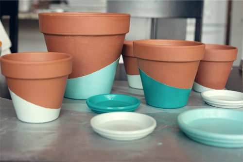 1 dipped pots
