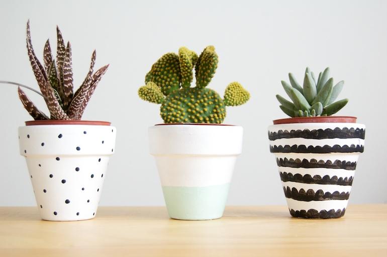 1 painted pots