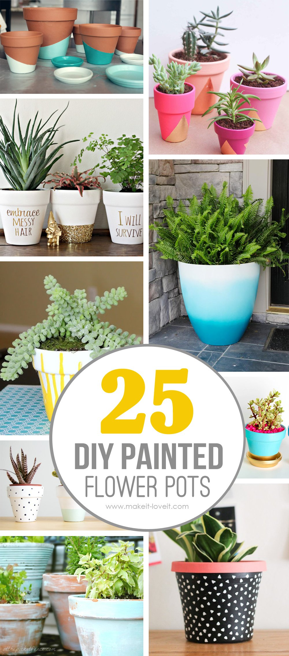 25 diy painted flower pot ideas you 39 ll love for New home diy