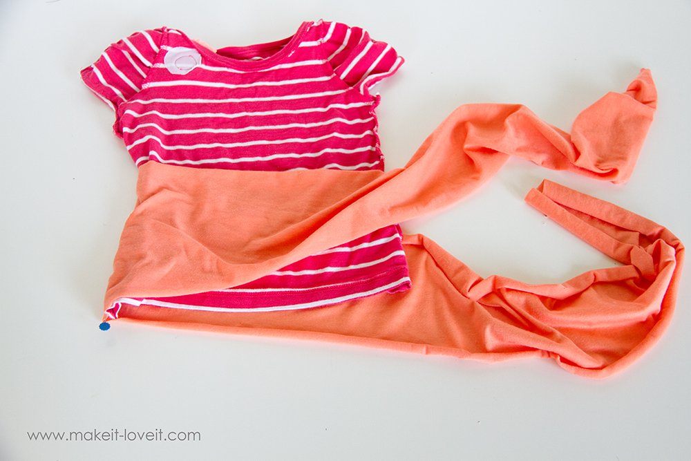 Add a Waist Sash to Shirts (great for making them longer (3)