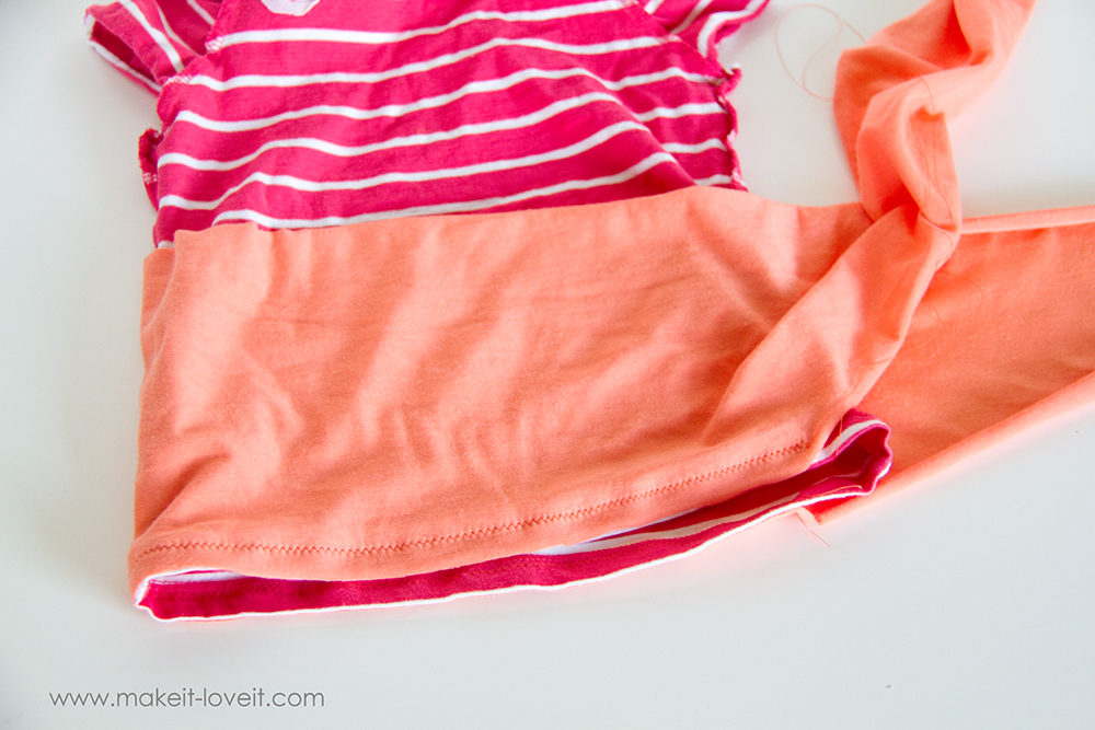 Add a Waist Sash to Shirts (great for making them longer (6)