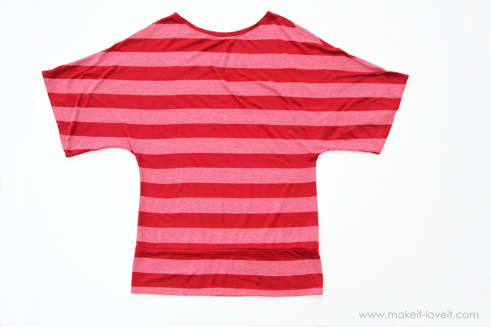 DIY Dolman Style Shirt with Banded Bottom 17