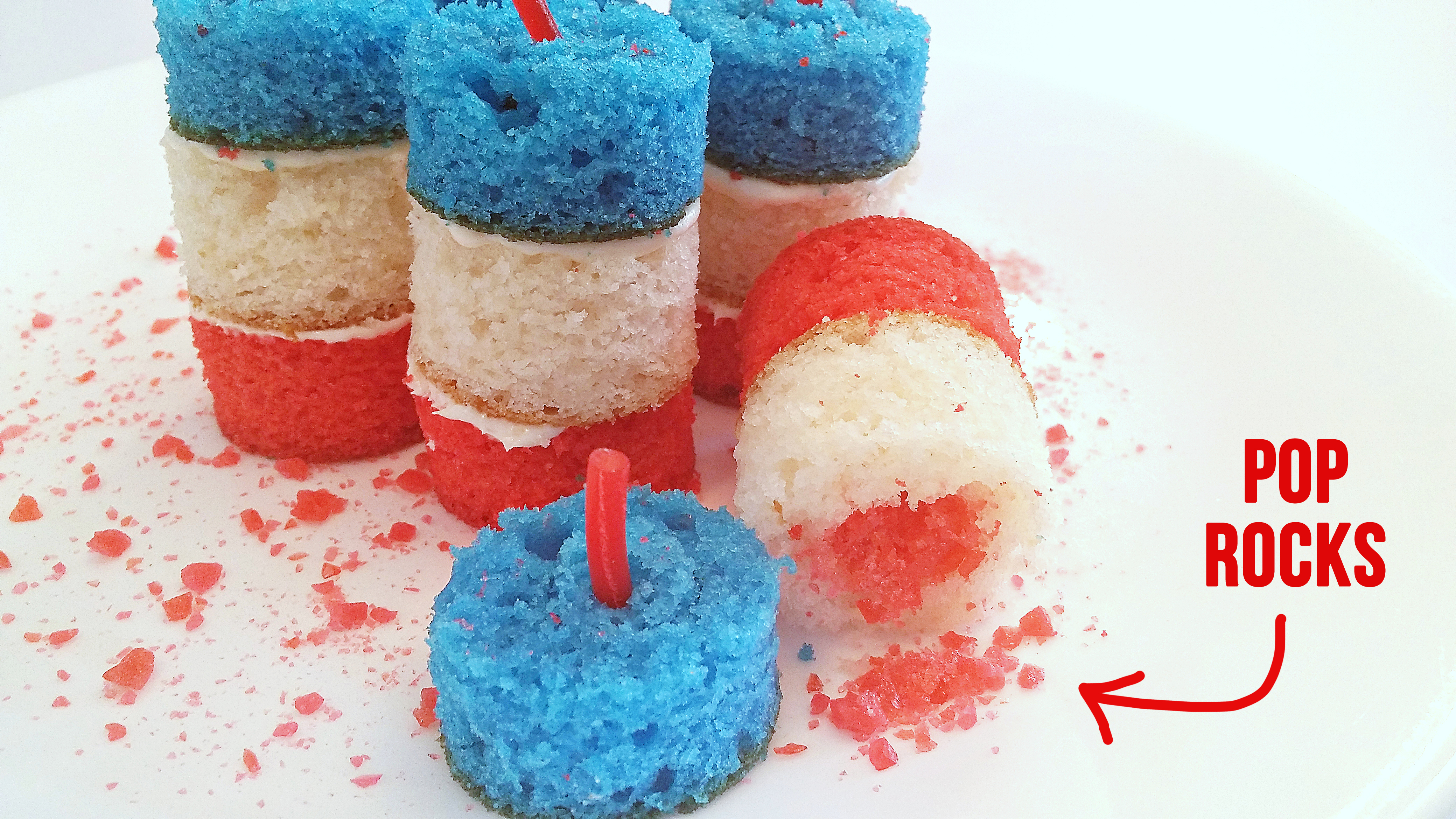 4th of July Firecracker Cakes...with a POP ROCK center! | Make It and ...