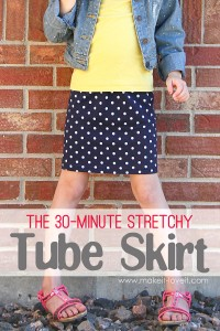 30 Minute Stretchy Tube Skirt....(with enclosed elastic waistband) | via Make It and Love It