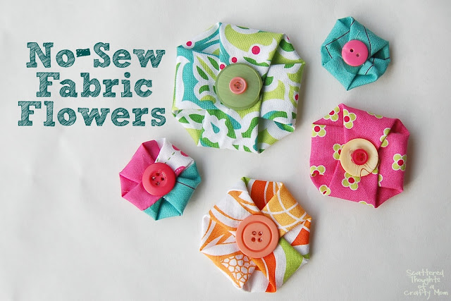 No sew fabric flowers-1small