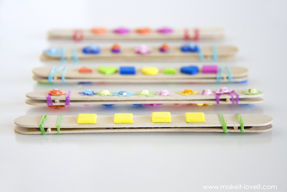 DIY Craft Stick Harmonicas......a fun and quick craft for kids!   via Make It and Love It