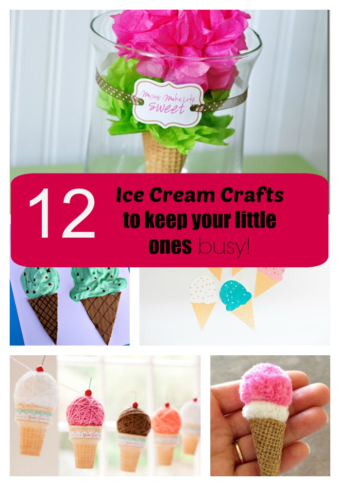 12 Ice Cream Crafts to keep your little ones busy.