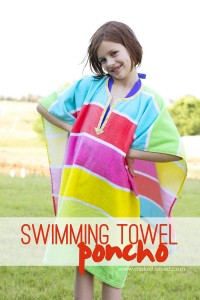 DIY Swimming Towel Poncho...stays in place and off the ground! | via Make It and Love It