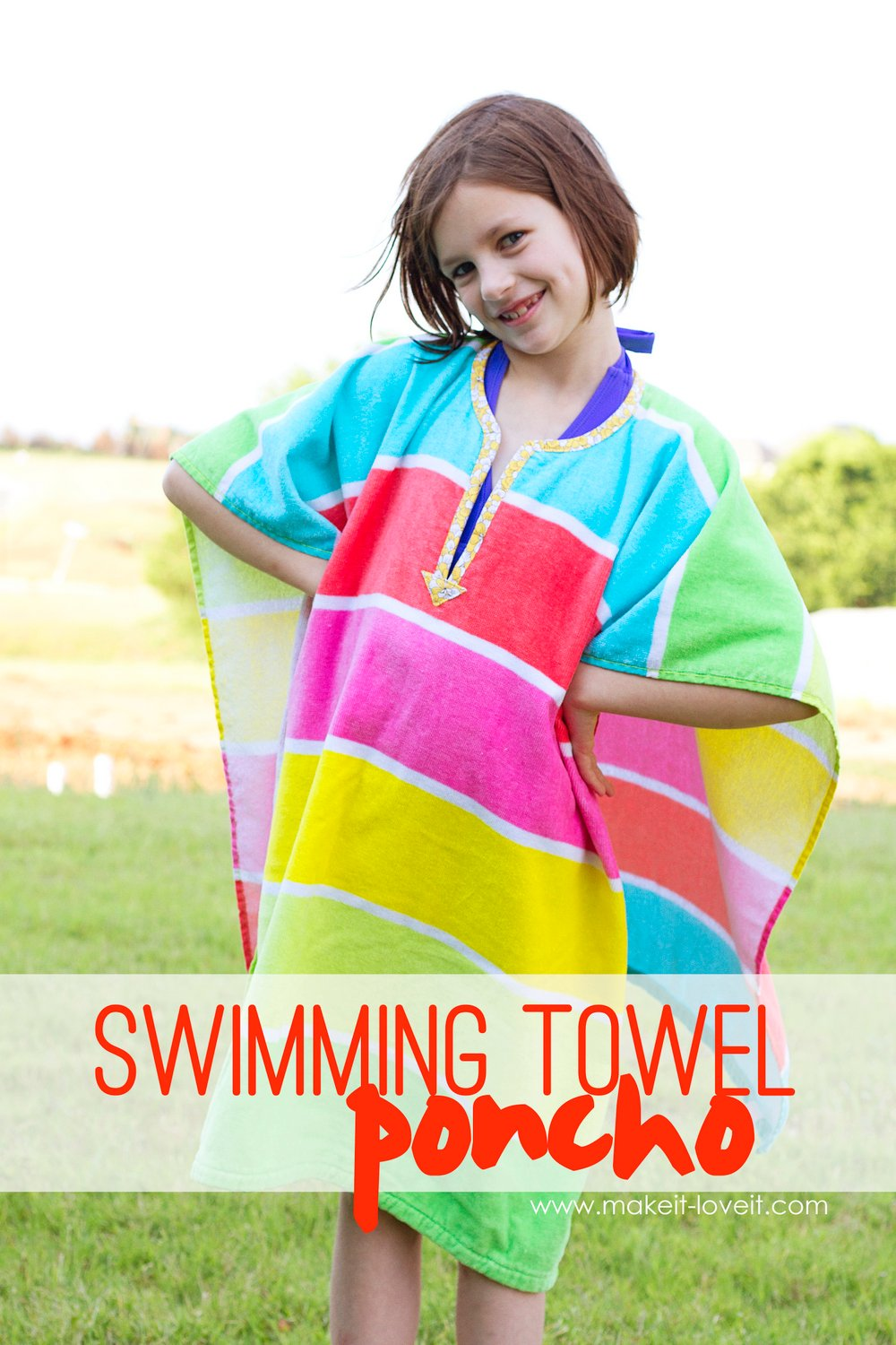 DIY Swimming Towel Poncho
