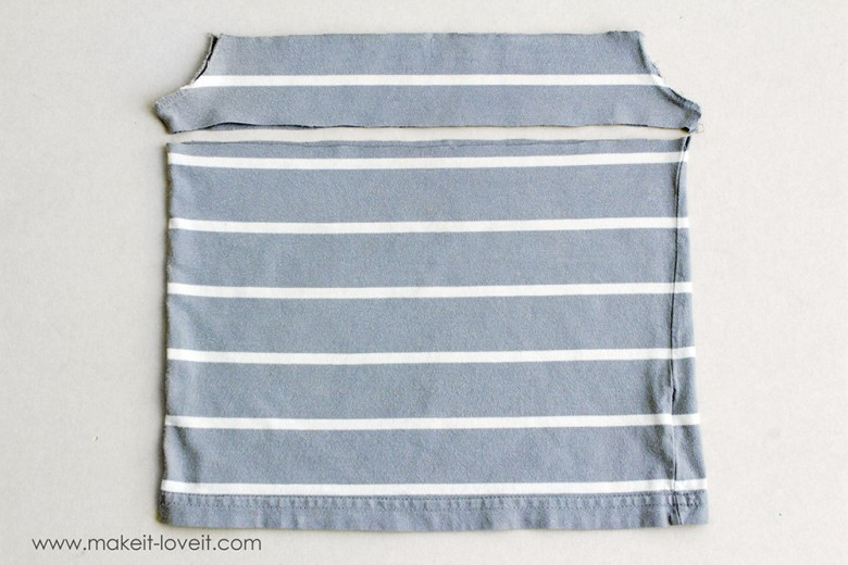 Add a color block stripe to boy's T-shirt (9)