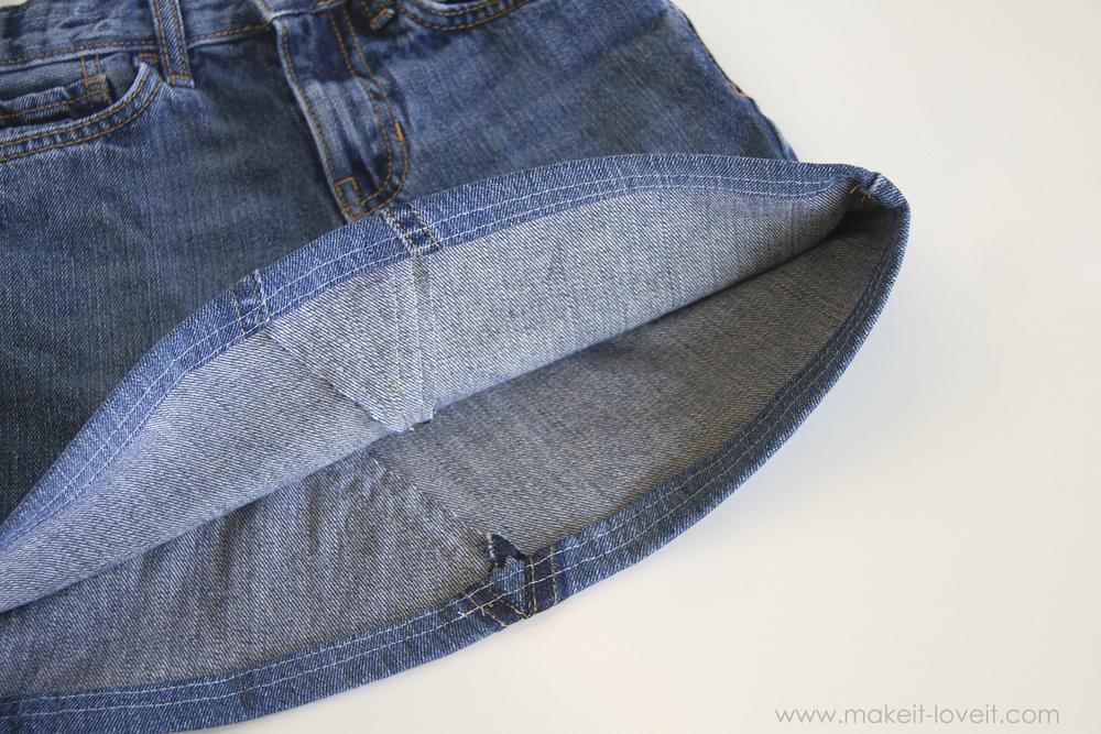 Юбка джинсовая для девочки из старых джинсов своими руками