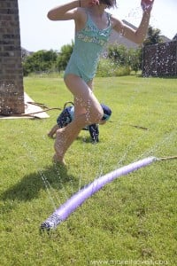 Make a SPRINKLER from an old POOL NOODLE | via Make It and Love It
