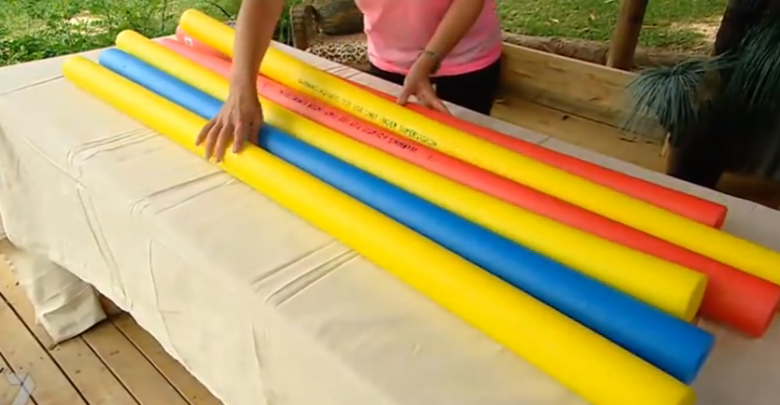 Make A Sprinkler From An Old Pool Noodle