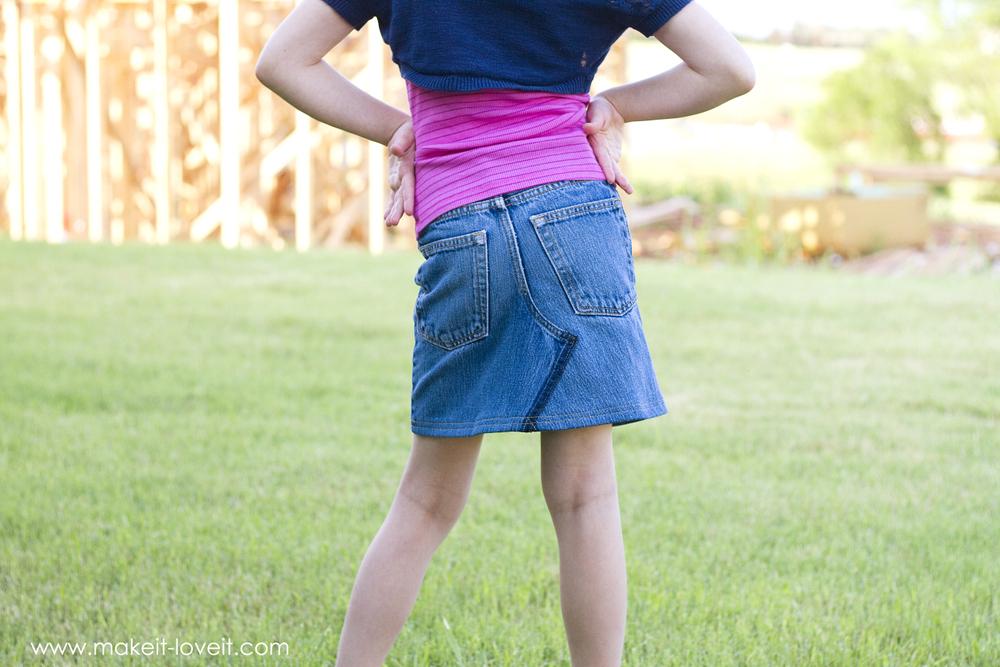 Make Jeans Into Skirt 109