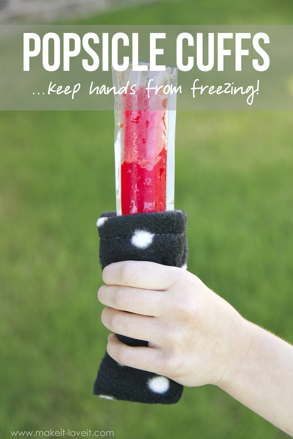Popsicle Cuffs…keep hands from freezing!