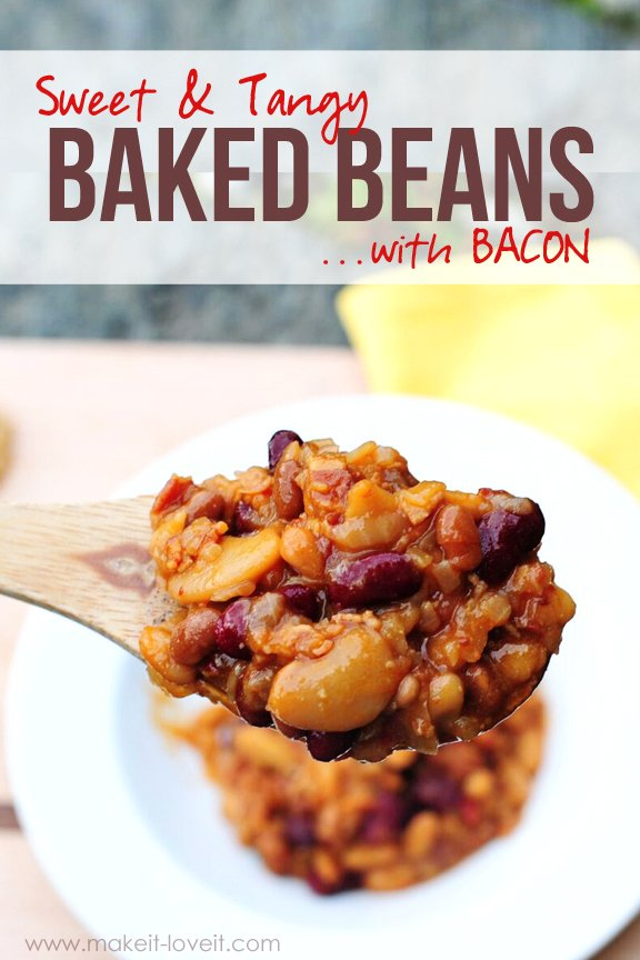 Sweet & Tangy Baked Beans…with BACON!