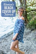 womens beach cover up tutorial