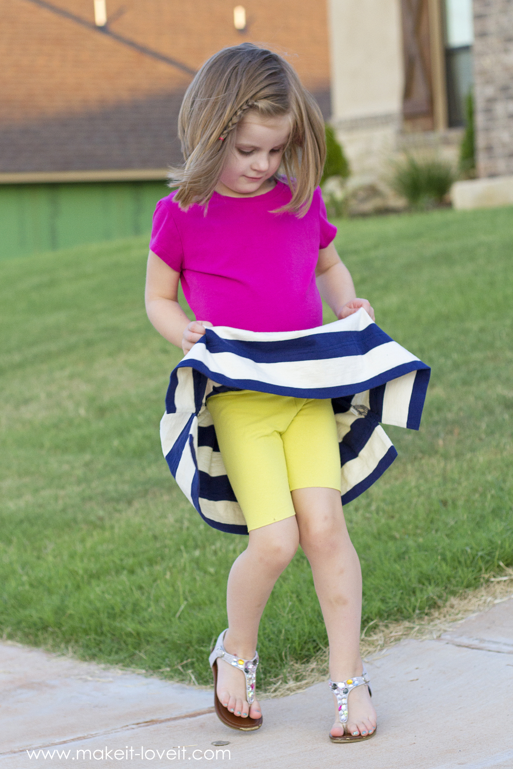 Back-to-School Skirt with Attached Shorts (...the CHEATER ...
