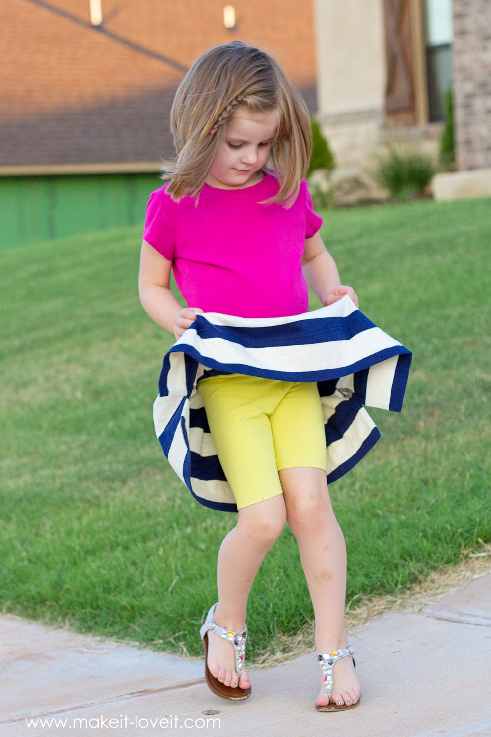 Back-to-School Skirt with Attached Shorts 3