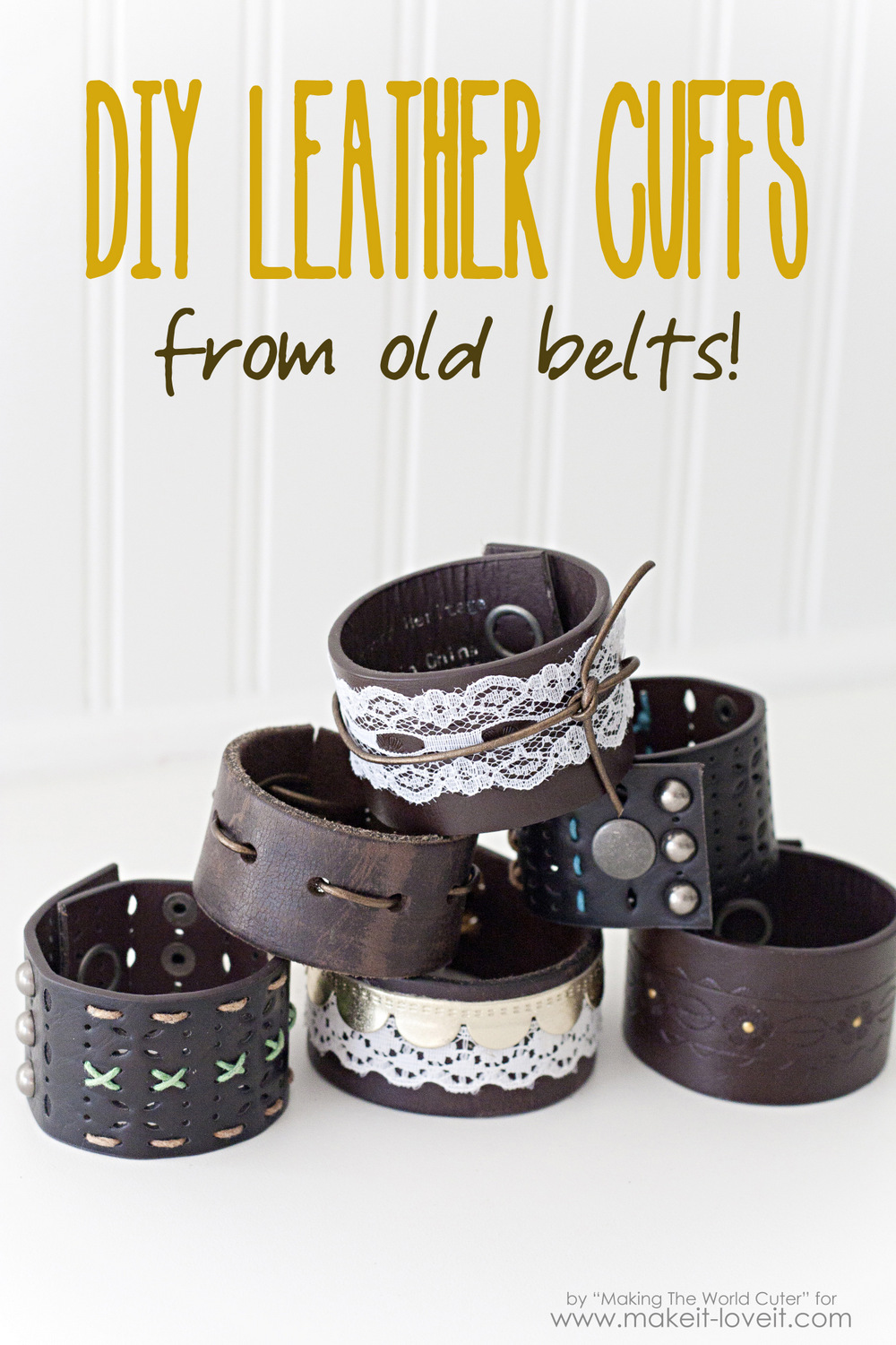 DIY Leather Cuffs from Old Belts