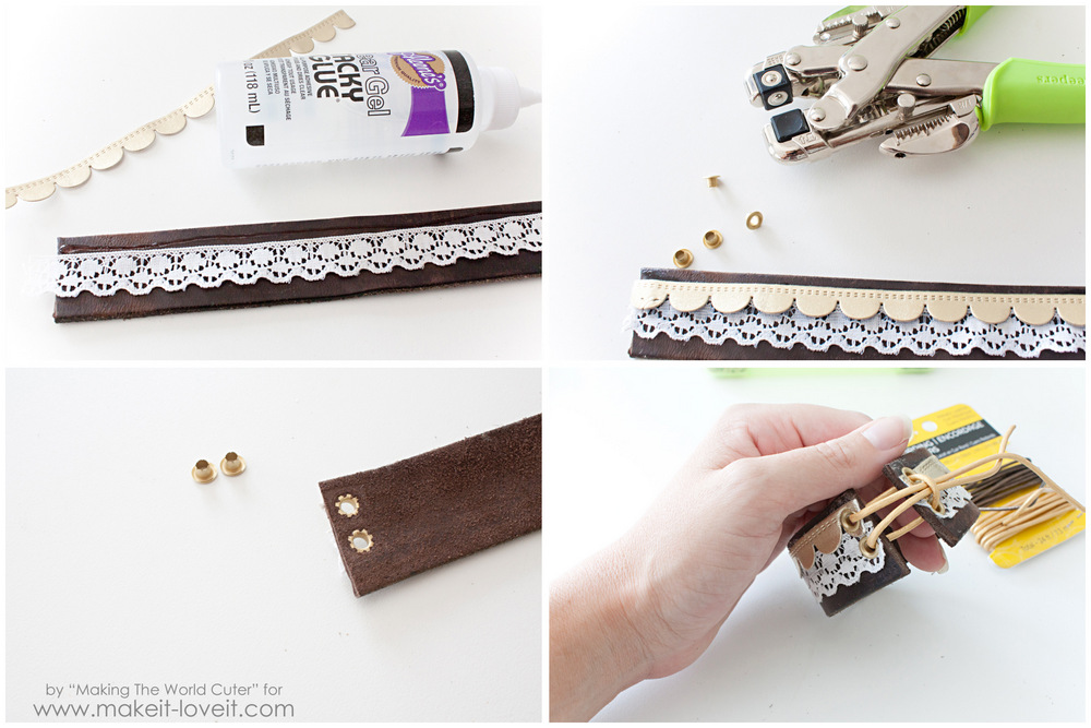 DIY Leather Cuffs...from old belts! | via Make It and Love It