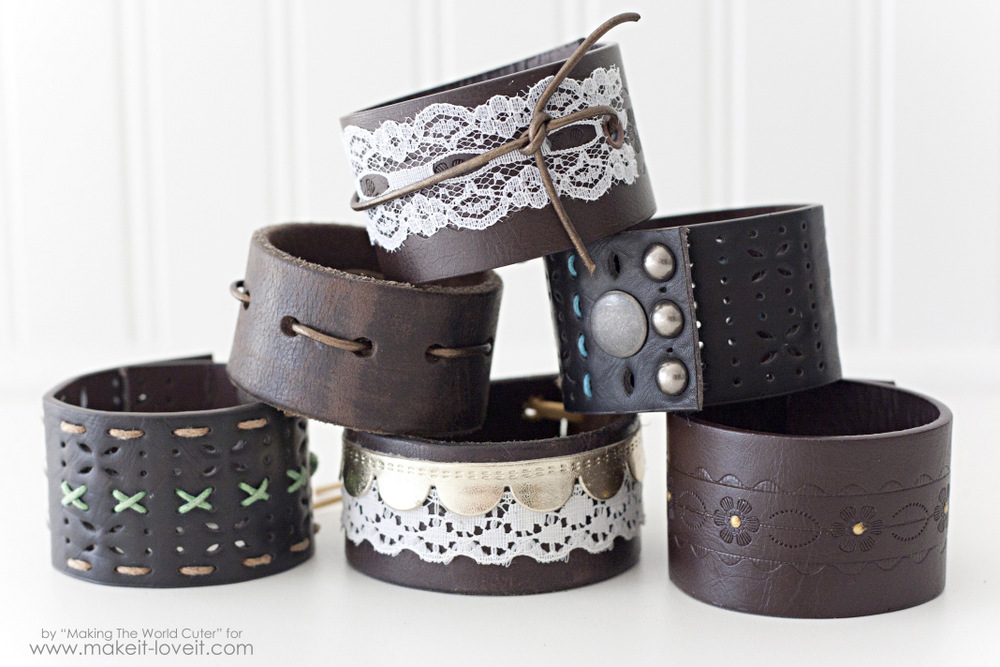 Leather Cuffs from Old Belts - Make It & Love It