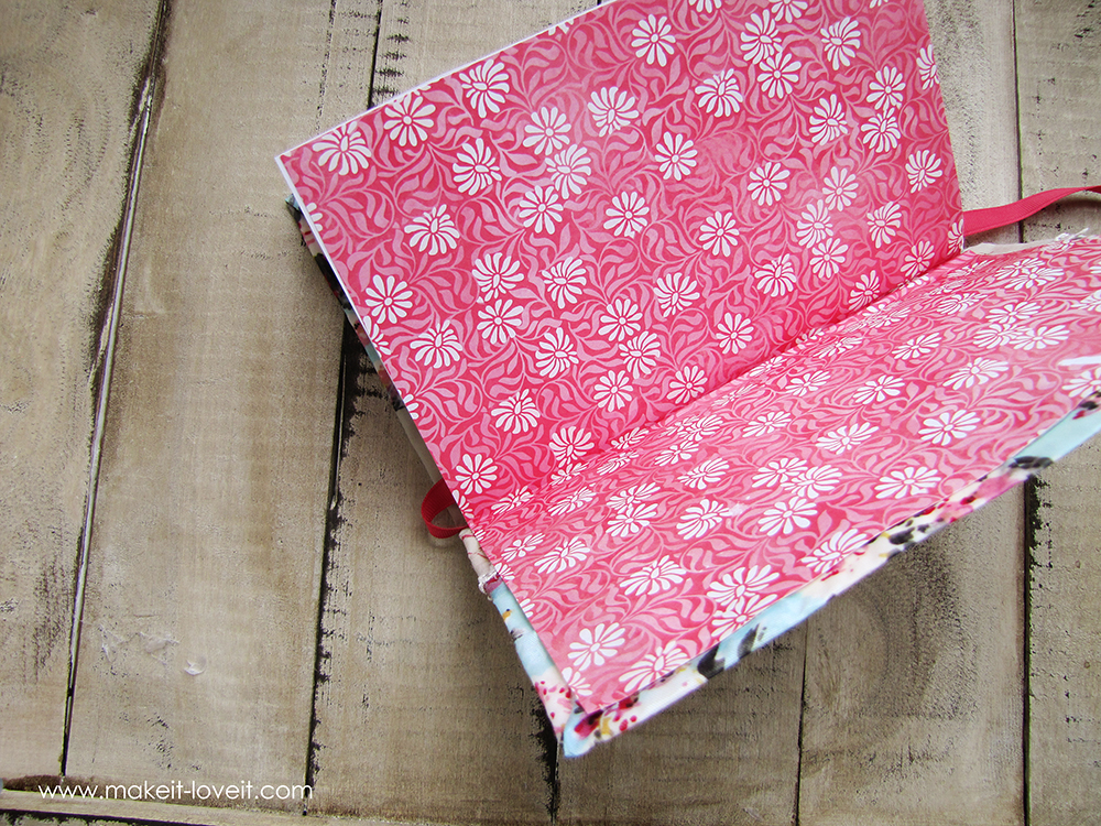 Make a beautiful handmade journal....the pages, the cover, everything! | via Make It and Love It