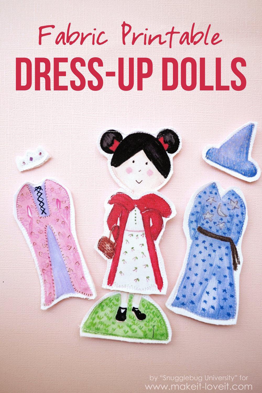 Fabric Printable DRESS-UP DOLLS